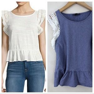 Highline Collective Lord and Taylor Peplum Top med
